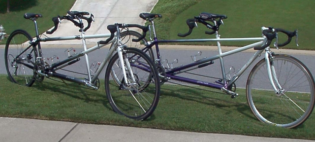 '02 Erickson Custom S&S (left) and '98 Signature (right)
